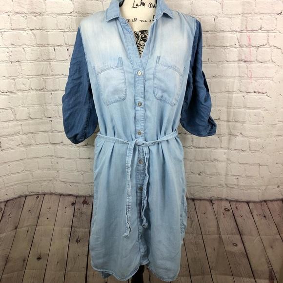 cloth & stone Dresses & Skirts - Cloth & Stone Chambray Shirt Dress